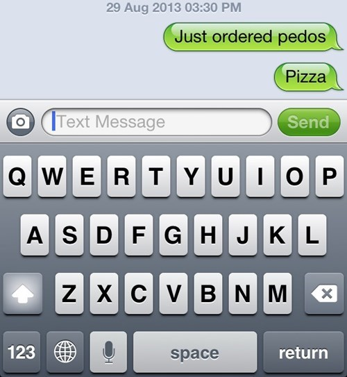autocorrect pizza text funny - 7768924160