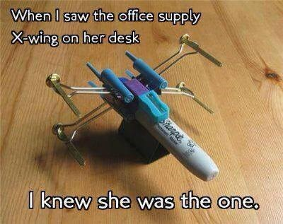 the one,office supplies,X-Wing Fighter,dating