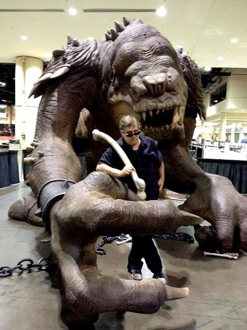 rancor,star wars,reunion,return of the jedi,Mark Hamill