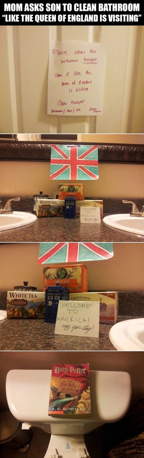 queen elizabeth bathrooms great britain cleaning Harry Potter england British - 7768992512