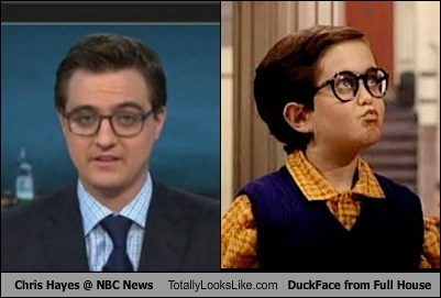 totally looks like,chris hayes,duckface,funny,full house