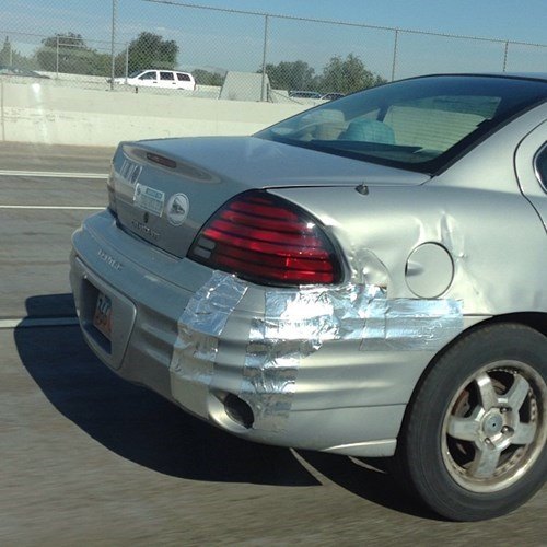 cars,duct tape,funny,there I fixed it