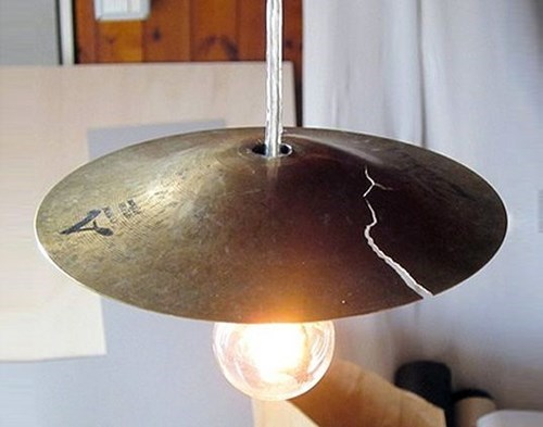 Music cymbals lamp deisgn funny - 7769544192