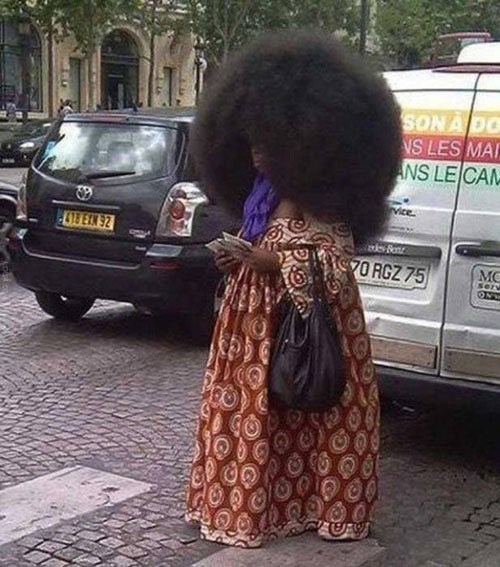 hair umbrella afro - 7769702912