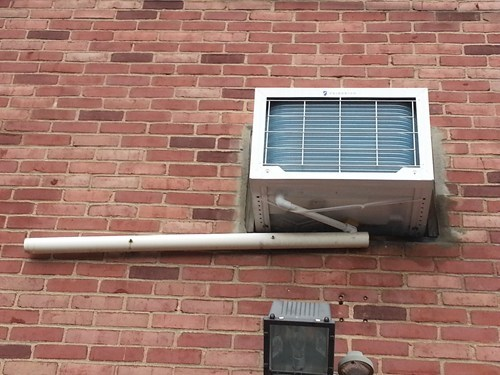 zip ties,pipes,funny,air conditioner,there I fixed it