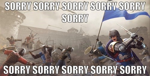 chivalry medieval warfare,friendly fire,sorry,team killing