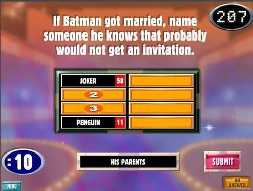 family feud,superheroes,batman