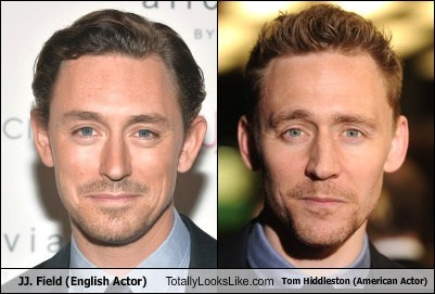 JJ. Field (English Actor) Totally Looks Like Tom Hiddleston (American Actor)