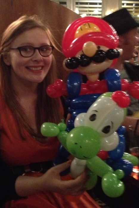 nerdgasm,balloon animals,video games,Super Mario bros,funny