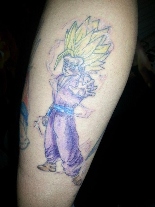super saiyan Dragon Ball Z tattoos funny g rated Ugliest Tattoos - 7771865856