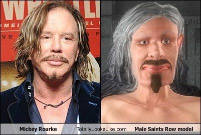 saints row,models,totally looks like,funny,mickey rourke