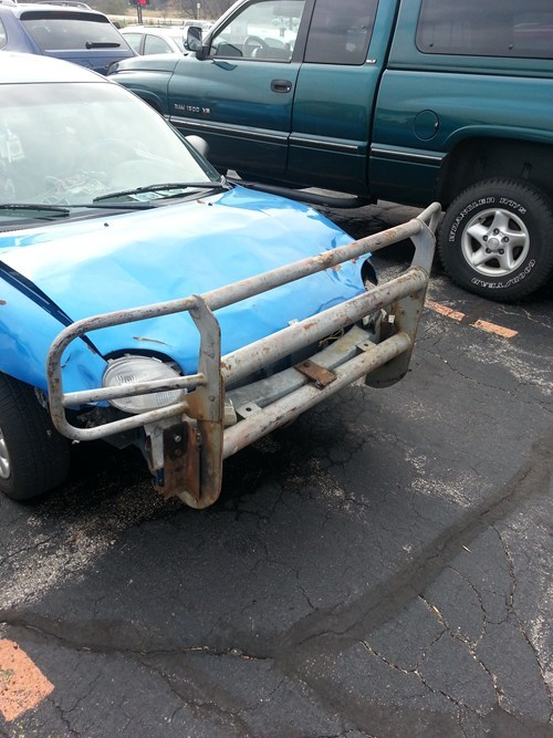 cars funny wisconsin bumper there I fixed it g rated - 7772697344
