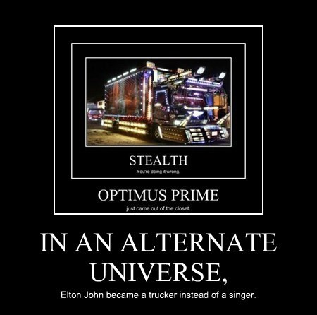 alternate universe,elton john,truck,funny
