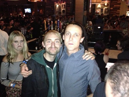 bromance photobomb disapproval funny