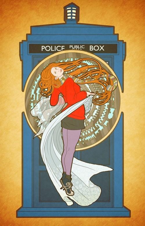 tardis art nouveau doctor who amy pond - 7773630720