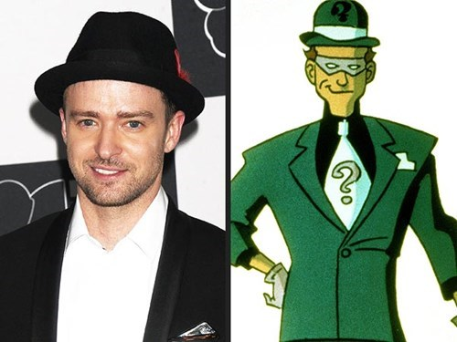 batfleck movies villains the riddler batman Justin Timberlake ben afleck celeb superhero - 7773693440
