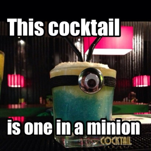 despicable me,minion,cocktail