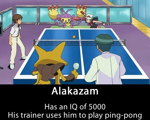 Pokémon anime alakazam ping pong - 7774032896