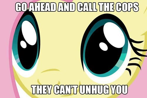 creepy hugs fluttershy - 7774279424