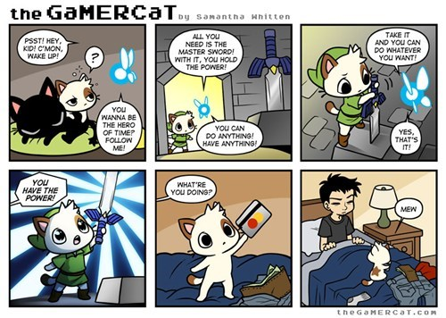 comics,the gamer cat,zelda
