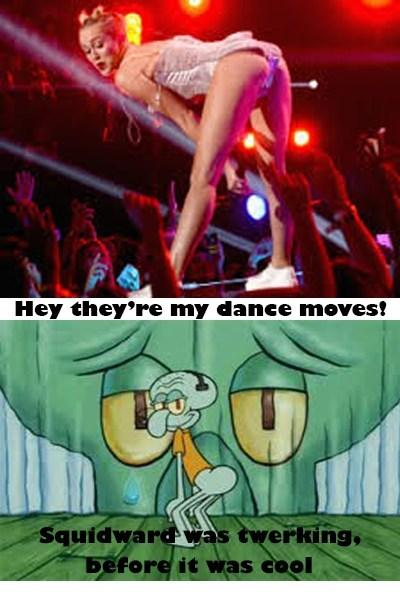 SpongeBob SquarePants twerking miley cyrus squidward - 7774822144