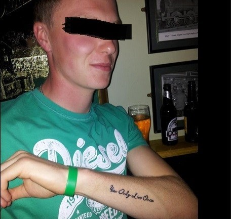 yolo tattoos funny - 7774905344