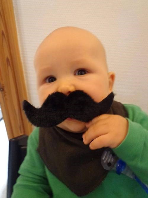 Babies parenting funny mustaches - 7775049728