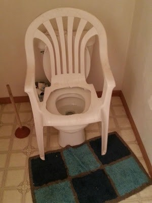 toilet lawn chair funny there I fixed it g rated - 7775094272