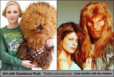Beauty and the Beast,Ron Perlman,chewbacca,totally looks like,funny,linda hamilton