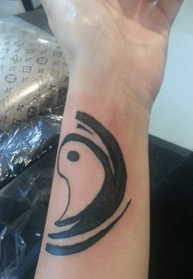 wtf tattoos yin yang funny - 7775609088