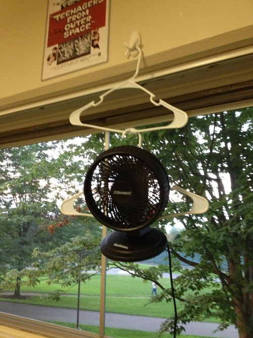 hangers electric fan funny there I fixed it