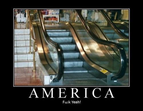 wtf escalator america funny - 7776303104