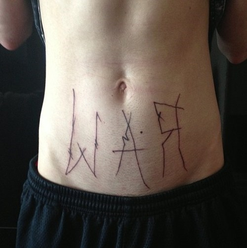stomach bad war tattoos funny - 7776599552