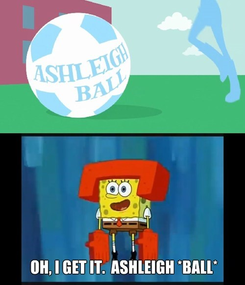 ashleigh ball,SpongeBob SquarePants,puns