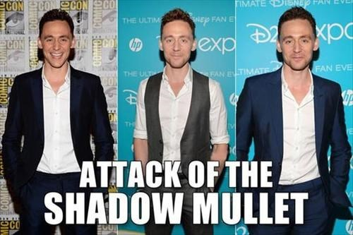 loki Thor tom hiddleston shadow mullet avengers tom hiddleston's hair - 7776731392