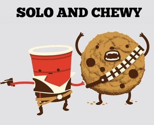 solo cup,star wars,chewy,chewbacca,Han Solo,cookies