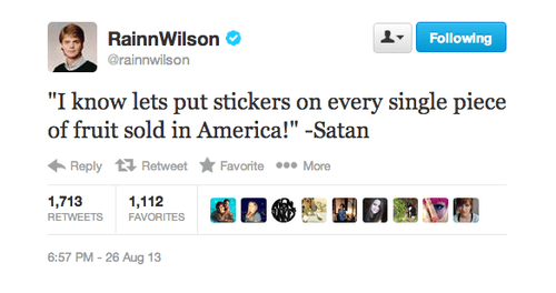 twitter rainn wilson dwight schrute fruit stickers fruit - 7776886272