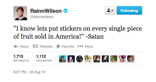 twitter rainn wilson dwight schrute fruit stickers fruit - 7776886272