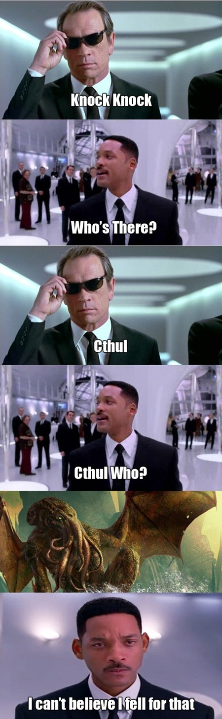 men in black,puns,cthulhu,funny