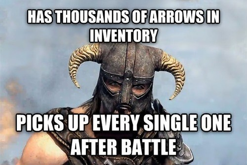 gamers gamer logic Skyrim