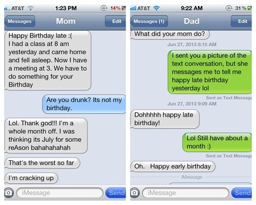 birthdays text parenting funny - 7777256704
