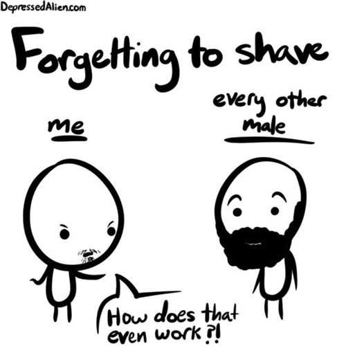 facial hair dude problems shaving comic funny - 7777460480