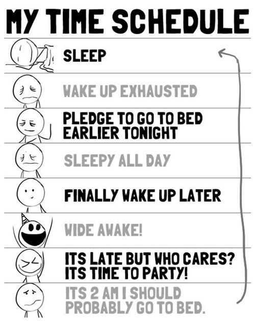 schedule cycle sleep