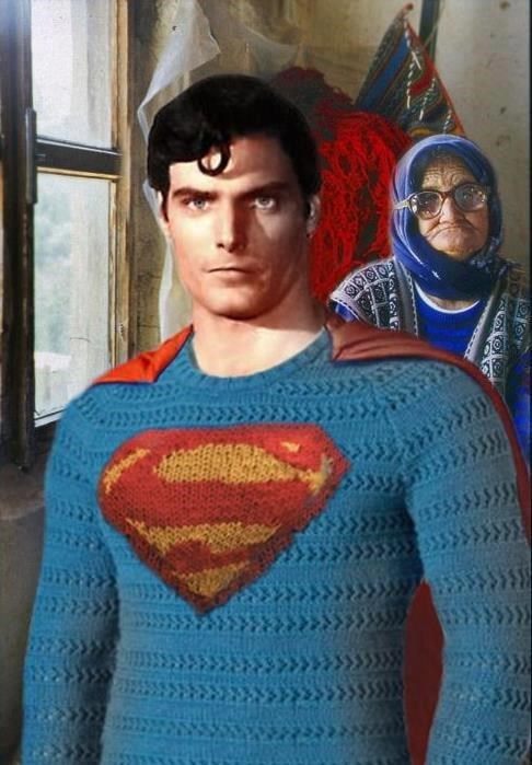 crochet granny textiles superman - 7777564928