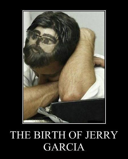 hair,jerry garcia,sleeping,funny