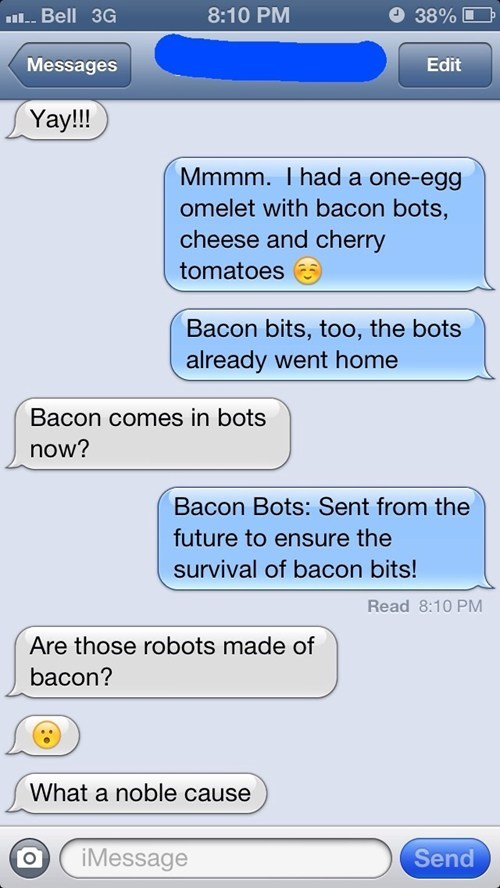 autocorrect,text,funny,bacon,g rated,AutocoWrecks