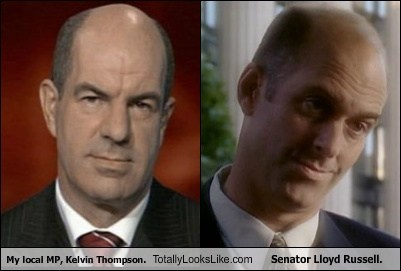 kelvin thompson,senator lloyd russell,totally looks like,funny