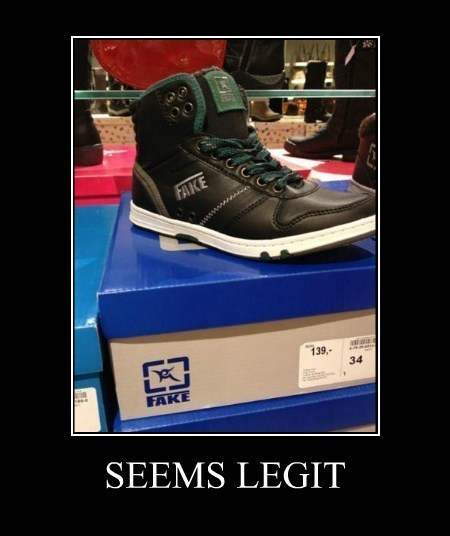 shoes fake brand funny - 7777787392