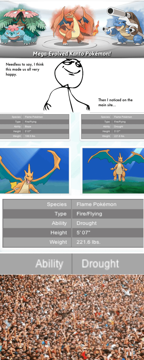 mega evolutions,drought
