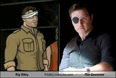 the governor,rip riley,totally looks like,archer,funny,The Walking Dead